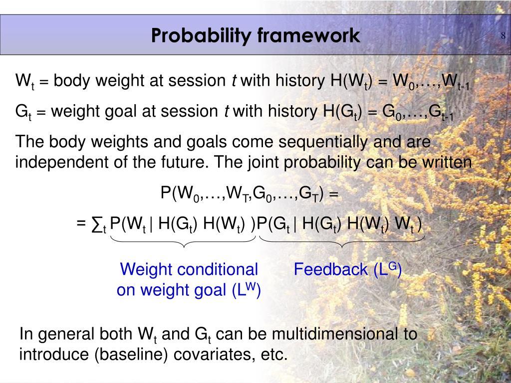 Probability framework