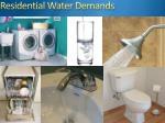 residential water demands