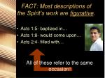 fact most descriptions of the spirit s work are figurative1