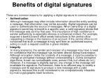 benefits of digital signatures