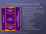 functional verification 2003