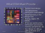 what eda must provide