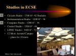 studios in ecse