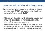 temporary and partial work waiver program2
