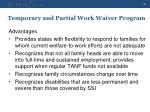 temporary and partial work waiver program3
