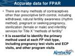 accurate data for fpar