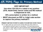 ar psrs page 32 primary method