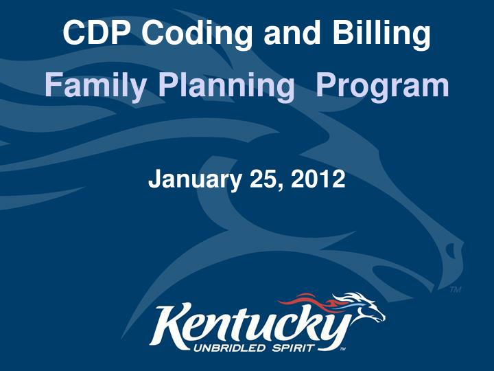 cdp coding and billing n.