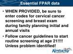 essential fpar data