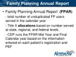family planning annual report