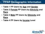 fpar demographic information