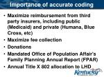 importance of accurate coding