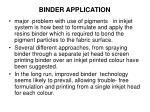 binder application