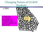 changing nature of gc su students