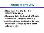 initiatives 1998 2002