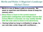 merlin and wales a magician s landscape michael dames