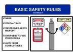 basic safety rules13