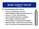 basic safety rules15