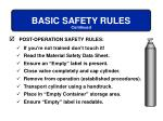 basic safety rules16