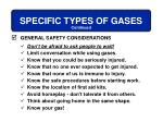 specific types of gases13
