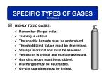 specific types of gases7