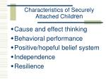 characteristics of securely attached child ren