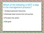which of the following is not a step in the management process