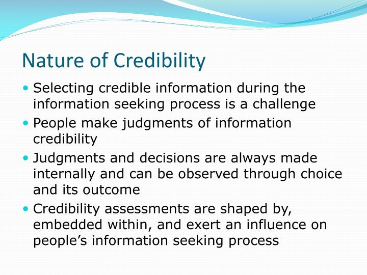 Nature of Credibility