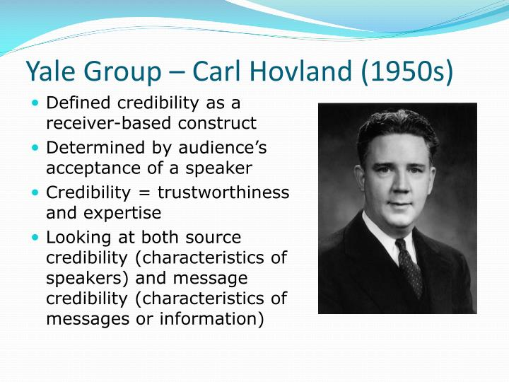 Yale group carl hovland 1950s