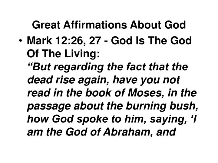 Great affirmations about god1