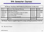9th semester courses