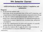 9th semester courses28