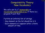 computability theory new vocabulary