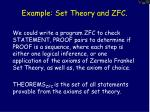 example set theory and zfc