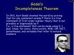 g del s incompleteness theorem