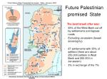 future palestinian promised state