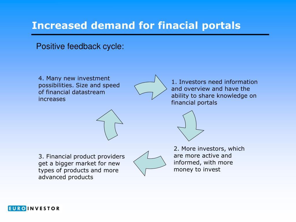 Increased demand for finacial portals