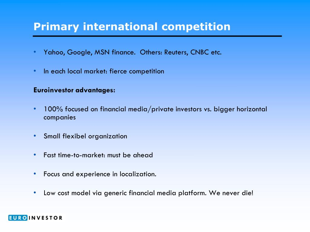 Primary international competition