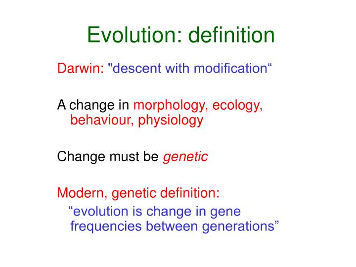 evolution in the definition of genes essay Evolution resources from the national academies and pass more of their genes on to the next generation evolution, and creationism.