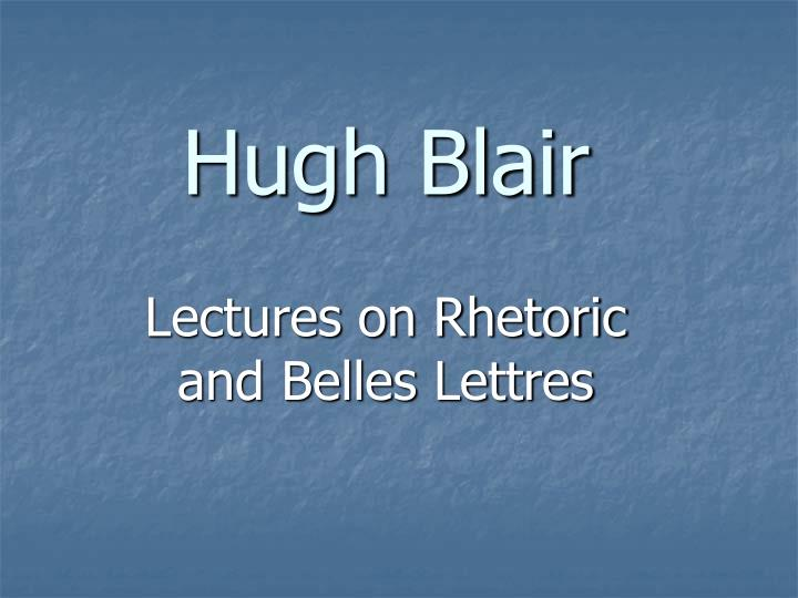 hugh blair n.