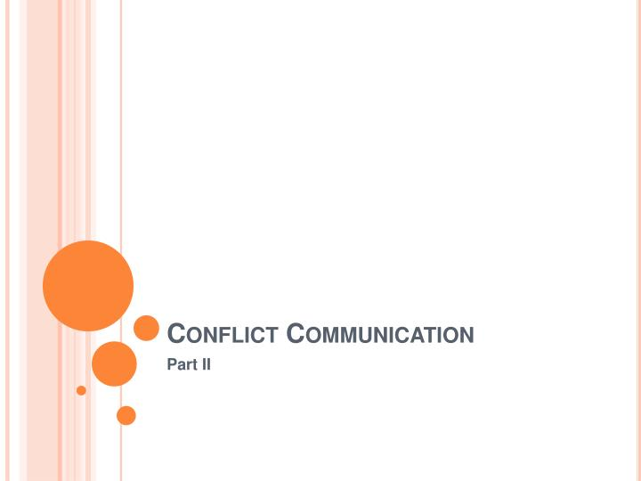 conflict communication n.