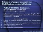 principle of proper management iii effectiveness and efficiency