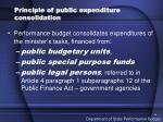 principle of public expenditure consolidation