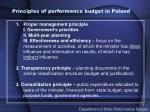 principles of performance budget in poland
