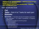 tasks classification levels