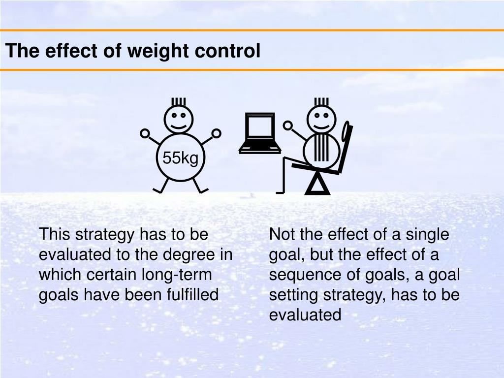 The effect of weight control