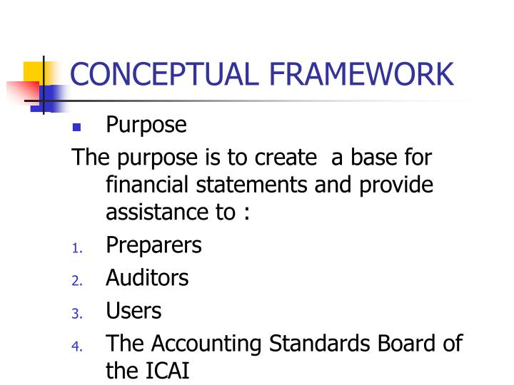 accounting conceptual framework essay 'the conceptual framework (cf) is intended to be a coherent conceptual basis for the international accounting standards board (iasb 2013) in developing accounting standards' brouwer et al (2015)1  consider the purposes of conceptual frameworks and discuss the extent to which you agree with.