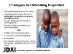 strategies to eliminating disparities