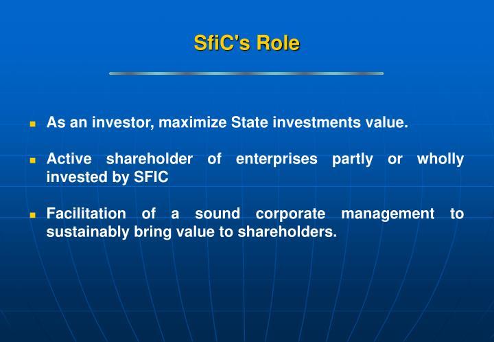 SfiC's Role