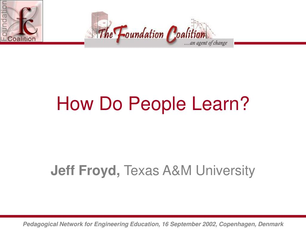 How Do People Learn?